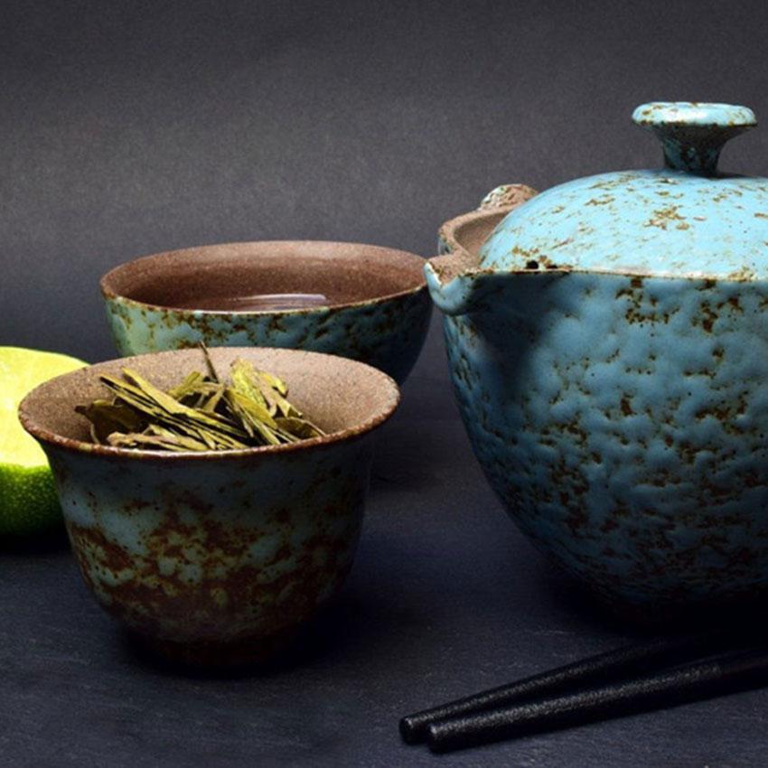 Teezeremonie mit Kräuter